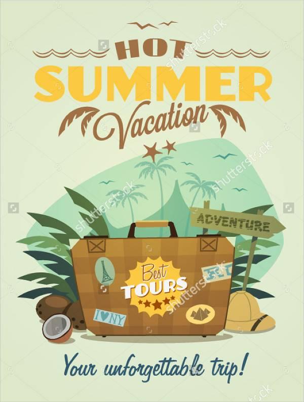 Summer Travel Vacation Poster