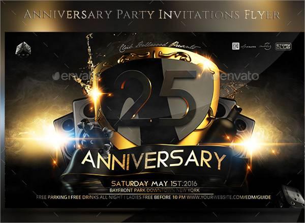 Surprise Anniversary Party Invitation Flyer