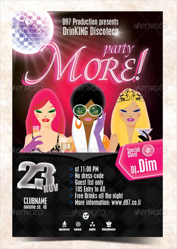 Surprise Party Invitation Flyer