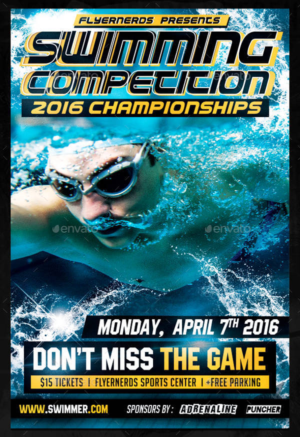 Swimming Championships Sports Flyer
