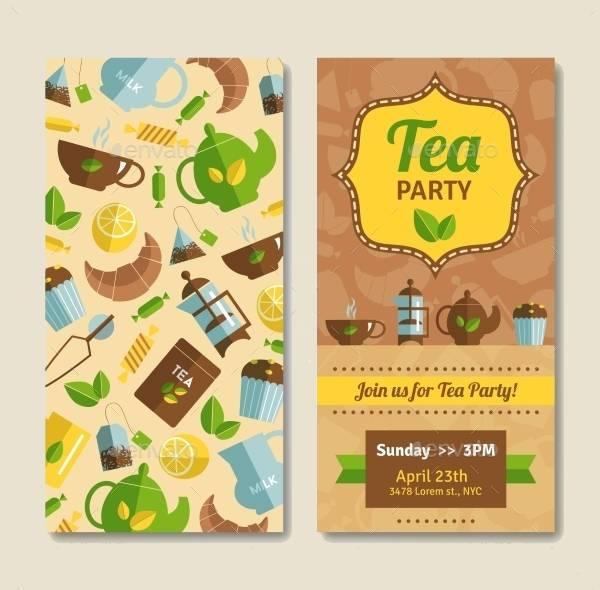 tea party announcement vertical banner