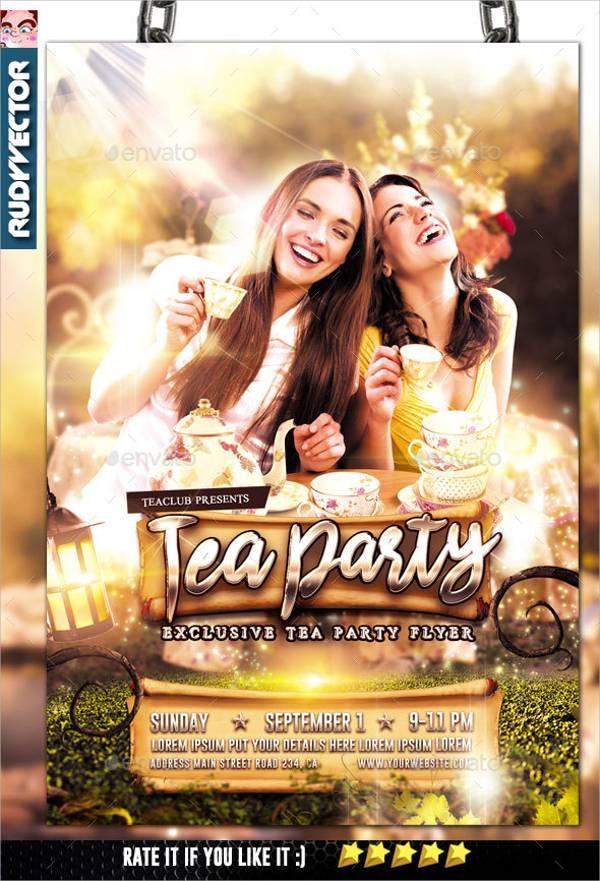 Tea Party Flyer Invitation