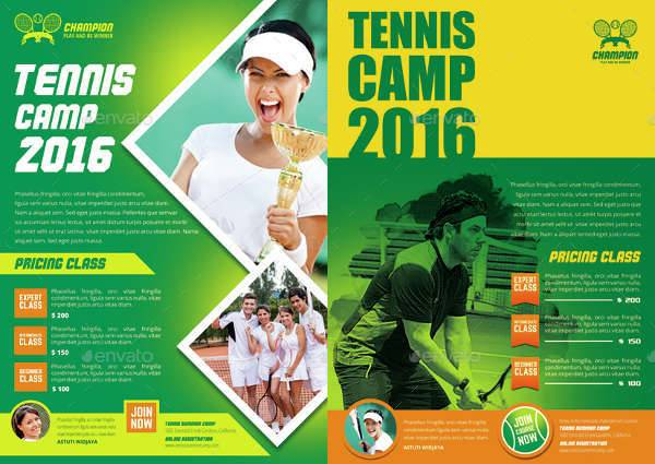 tennis camp flyer