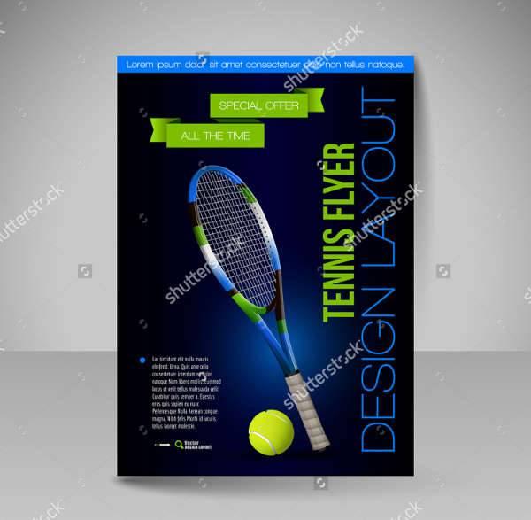 10  tennis flyers