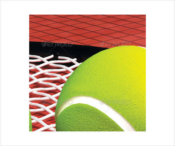 tennis game flyer