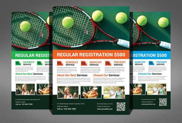 tennis players flyer