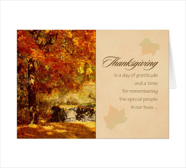 Thanksgiving Business Greeting Card