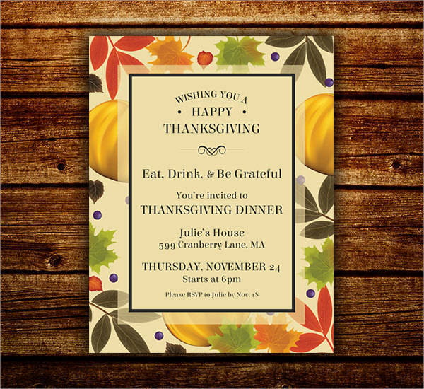 Thanksgiving Fall Festival Invite and Flyer