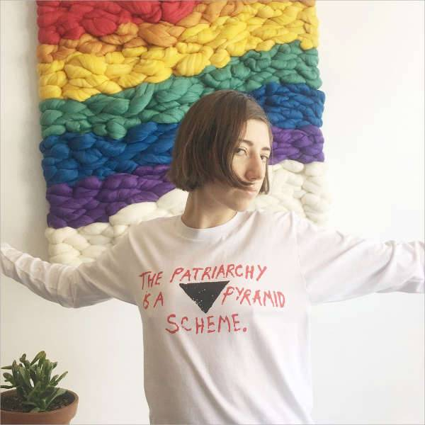 "the patriarchy is a pyramid scheme"" long sleeved shirt"