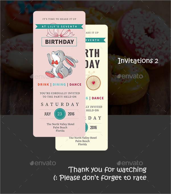 Ticket Birthday Party Invitation