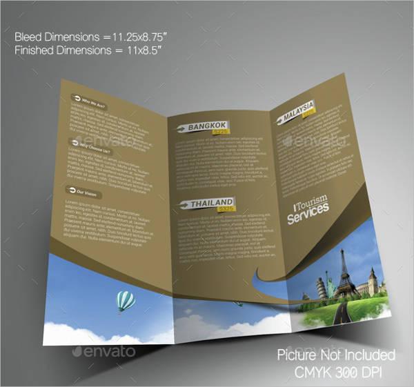 Tourism Service Trifold Brochure