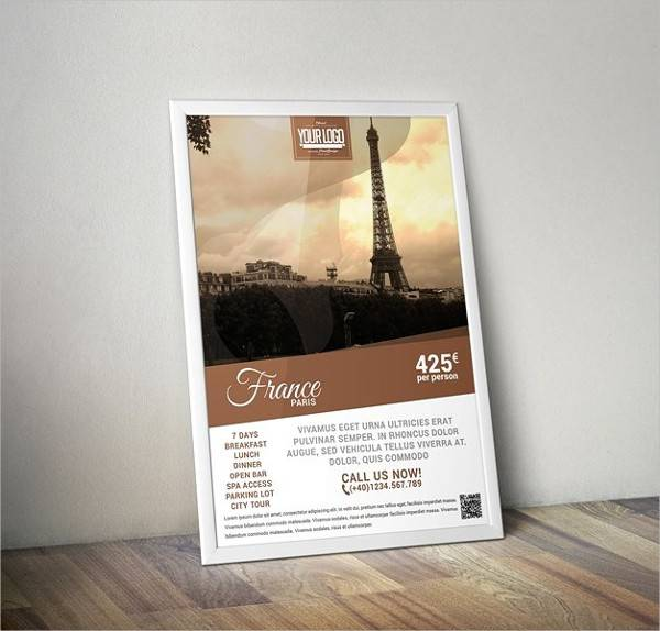 Travel Agency Poster PSD