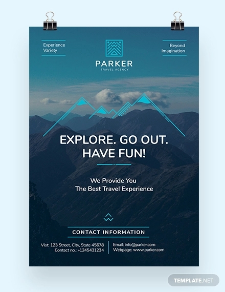 travel agency poster template1