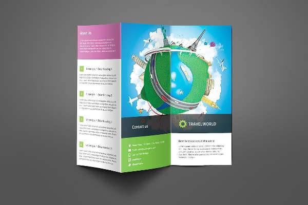 Travel Company Trifold Brochure