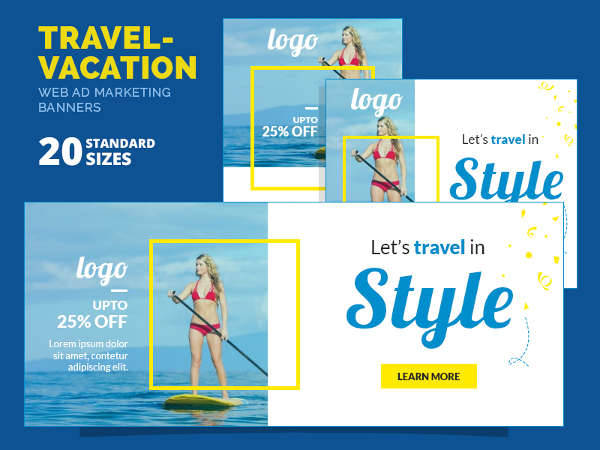 travel vacation marketing banner