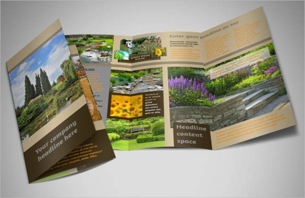 Tri-Fold Landscape Brochure Catalog