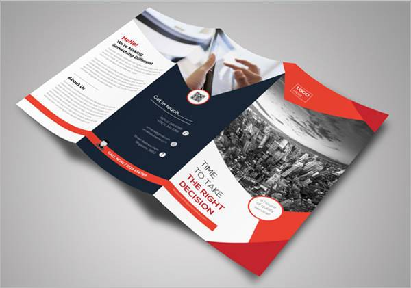 Trifold Advertising Agency Brochure