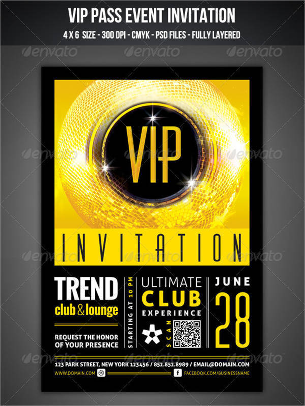 VIP Club Event Invitation