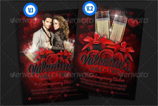 Valentine Dinner Party Event Flyer