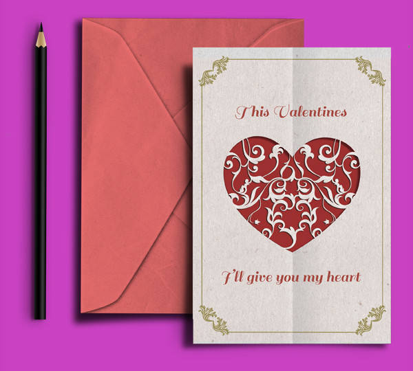 Valentine Love Greeting Card