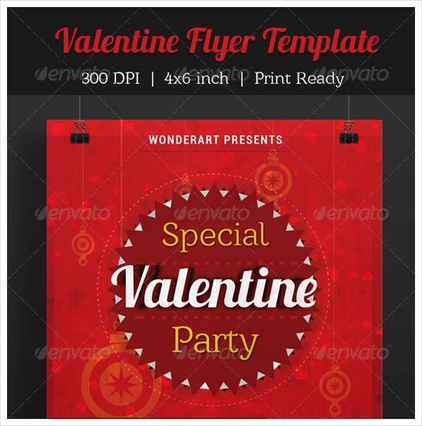 Valentine Party Invitation Poster Flyer Template