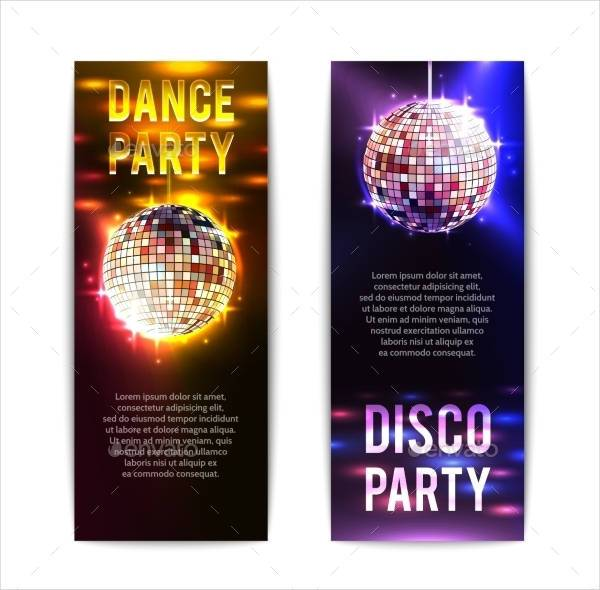 Vertical Disco Party Banner