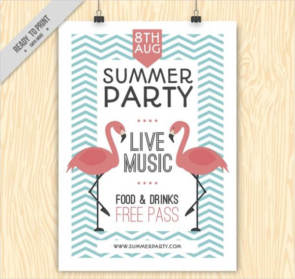 Vinatage Summer Party Poster