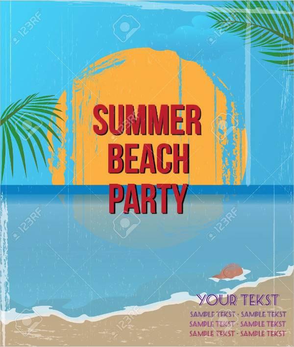 Vintage Beach Summer Poster