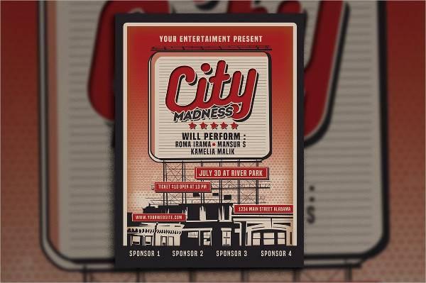 Vintage Billboard Sign Event Poster