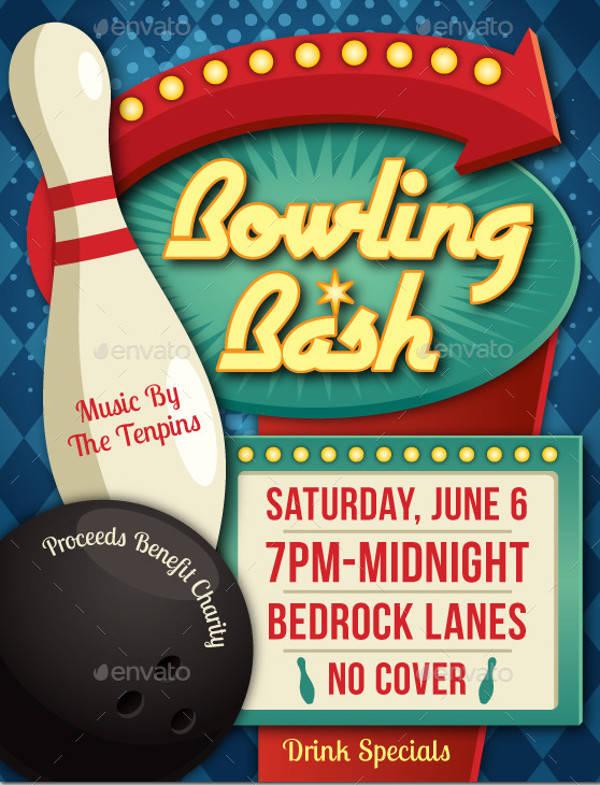 vintage bowling event poster1