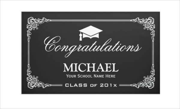 Vintage Chalkboard Graduation Banner