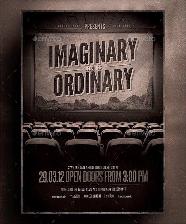 Vintage Cinema Flyer Poster