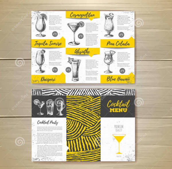 Vintage Cocktail Party Menu