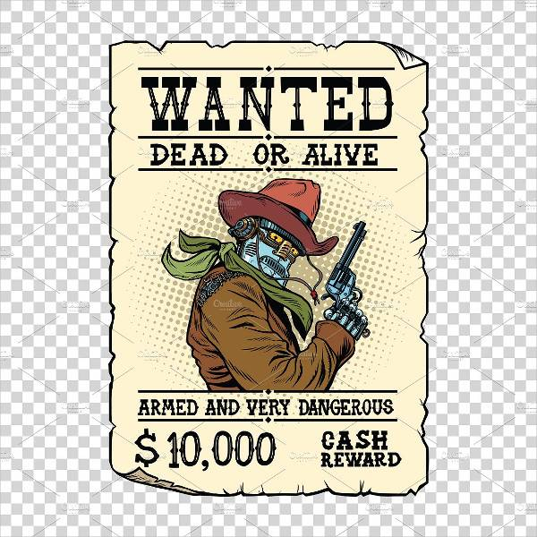 vintage cowboy wanted poster