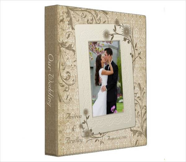 vintage floral photobook wedding album