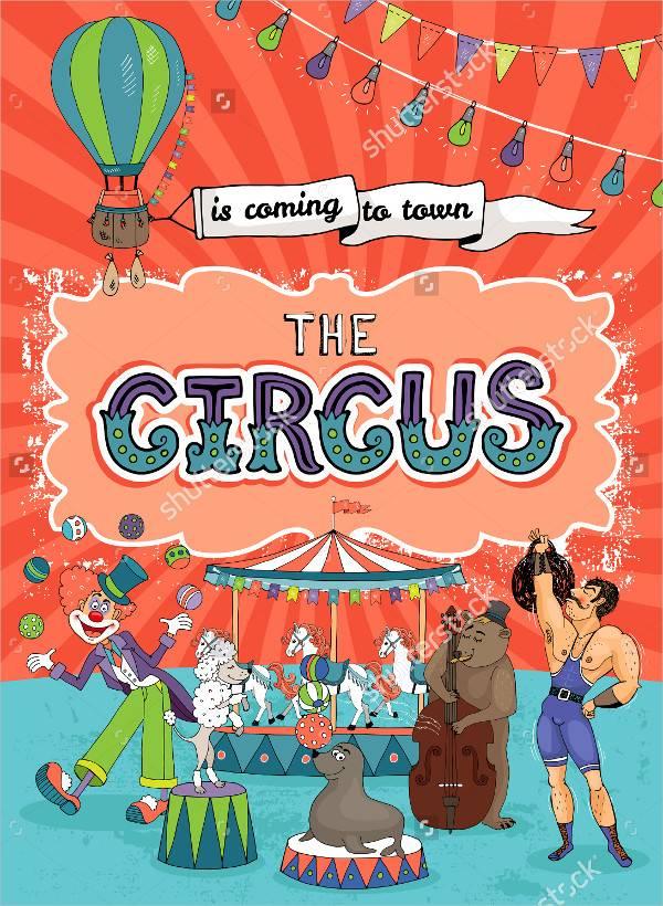 Vintage Funfair & Circus Poster