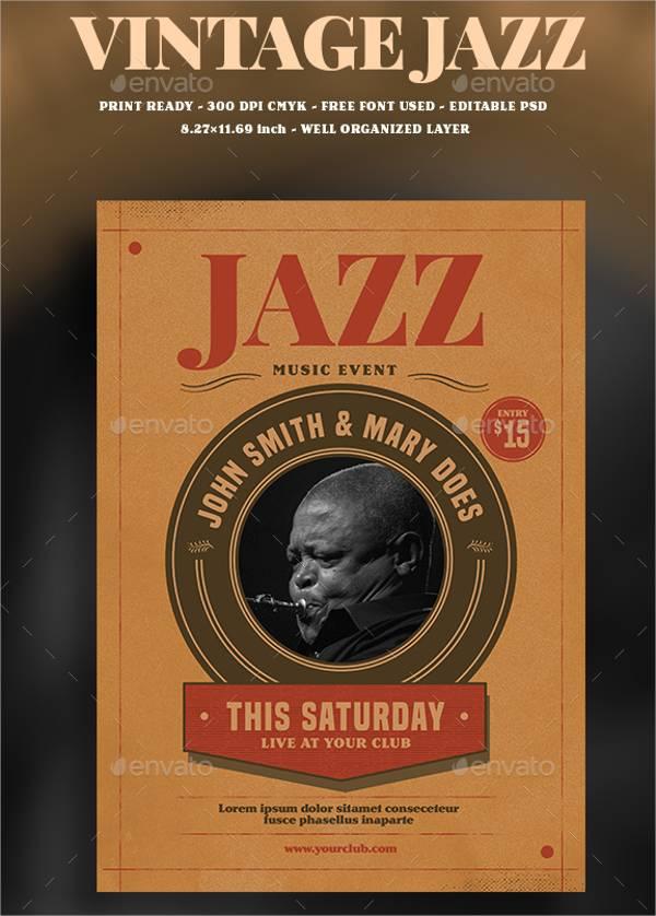 Vintage Jazz Event Flyer