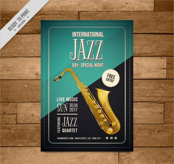 Vintage Jazz Event Poster