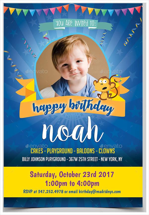 Vintage Kids Birthday Invitation