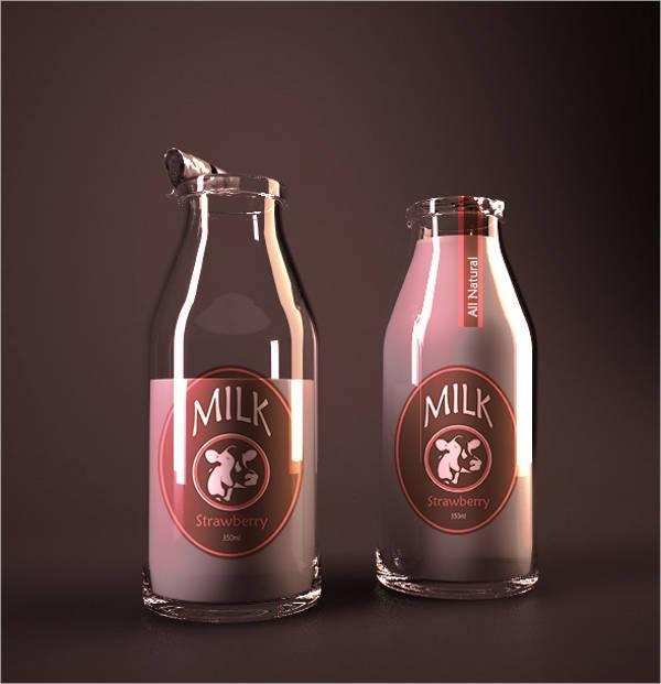 vintage milk bottle label