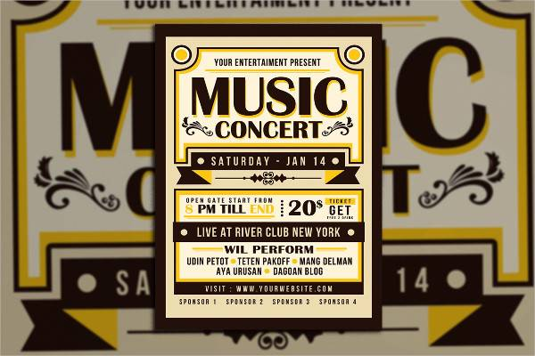 Vintage Music Concert Typography Poster