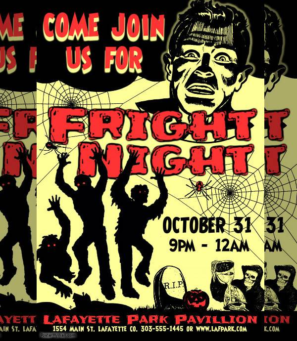 vintage night event poster