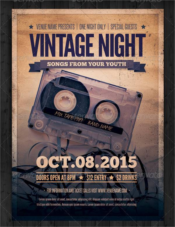 Vintage Night Event Poster