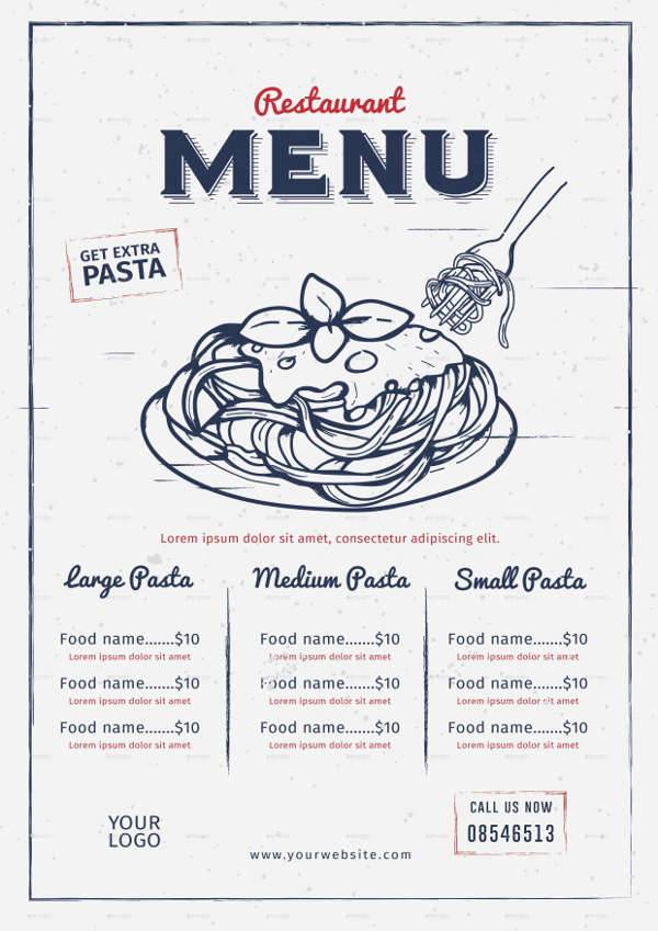 Vintage Pizza Restaurant Menu