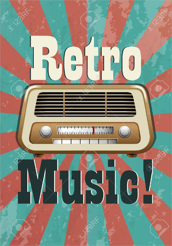 Vintage & Retro Music Poster