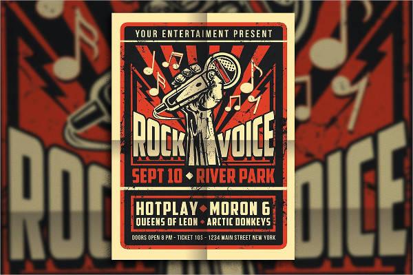 Vintage Rock Concert Poster