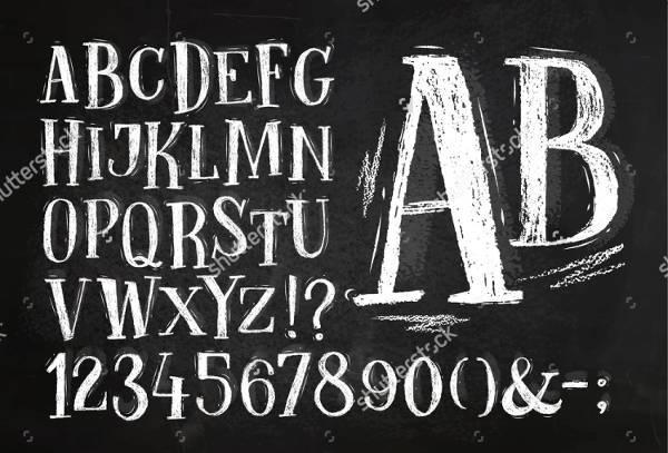 Vintage Typography Chalkboard Font