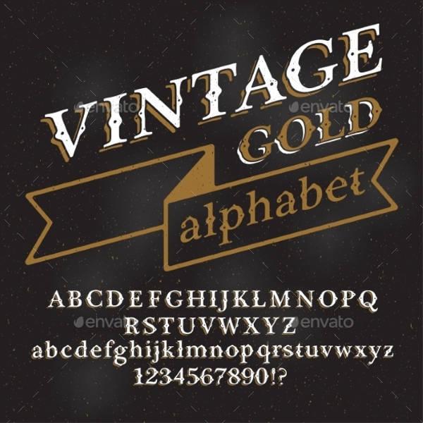 Vintage Typography Poster Font