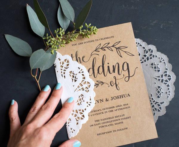 Vintage Wedding Invitation Download