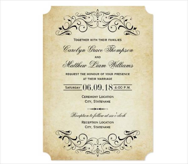 Vintage Wedding Invitation Printable
